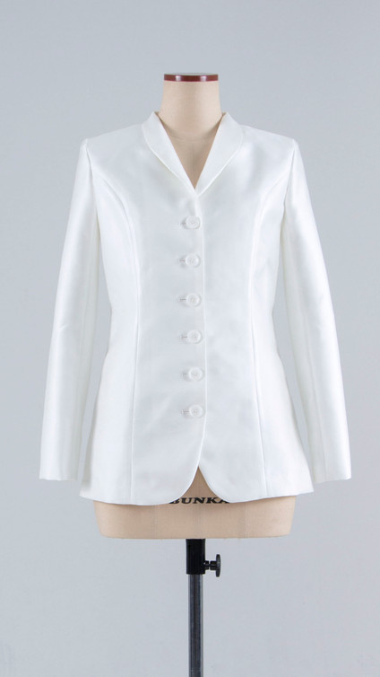 High-quality silk Jacket with lean silhouette