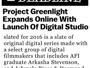 DEADLINE Hollywood announces Biggs' collaboration with Project Greenlight for upcoming series.