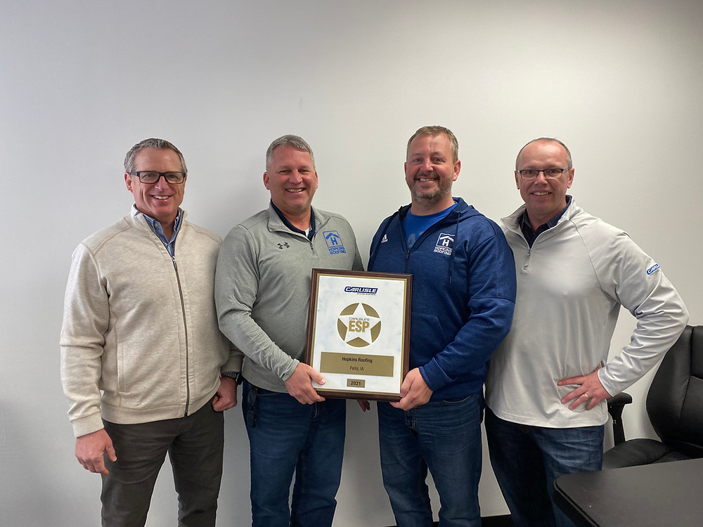 Pictured are from left to right, Joe Stassi, Carlisle SynTec Western Sales Manager, Roger, Dave, Rob Mulaney, Luna & Associates