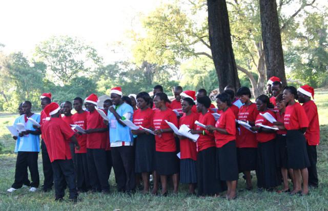 Caroling in Uganda