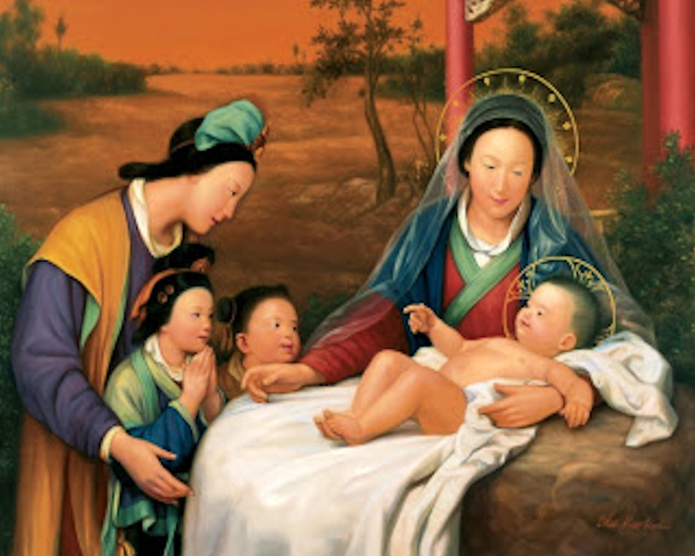 Chinese Christian Nativity Artist Unknown