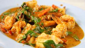 Sembharachi Kodi or Shrimp in Coconut Curry