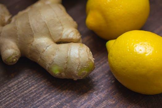 Ginger and lemon