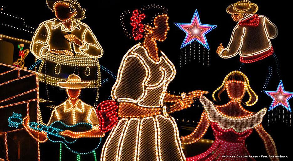 Christmas lights in Puerto Rico
