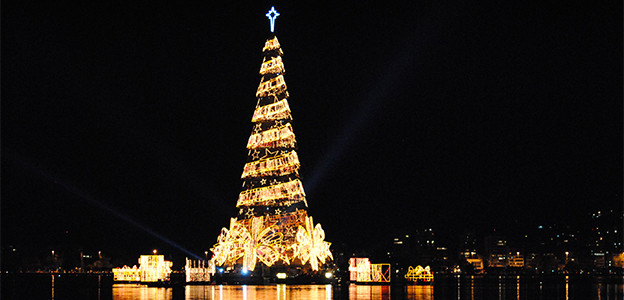 Rio de Janeiro floating Christmas tree
