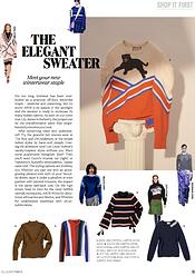 The Elegant Sweater // ELLE October 206