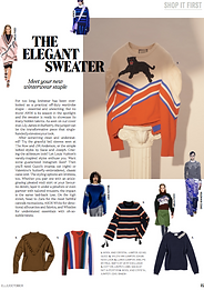 The Elegant Sweater // ELLE October 206