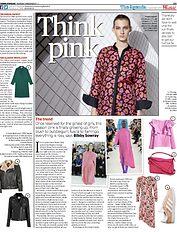 The Agenda: Think Pink // Evening Standard March 9th 2017