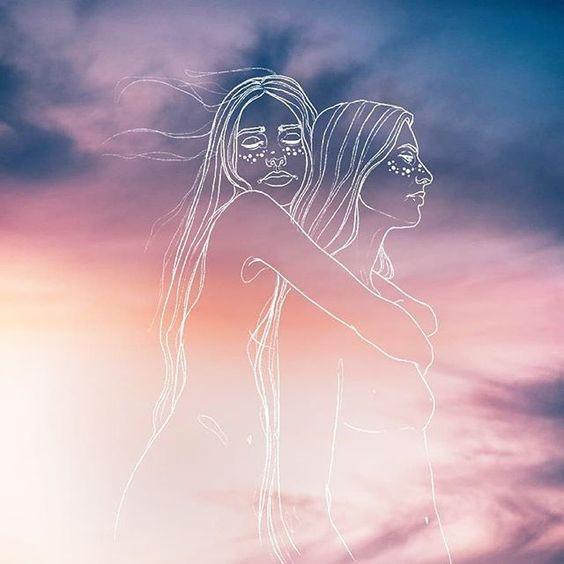 draw women sky