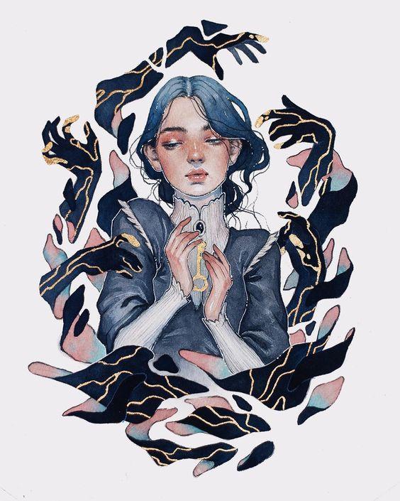 art woman hands