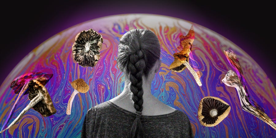 Shayanne Gal/Insider collage woman mushrooms