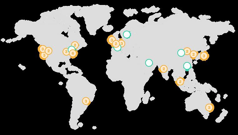 Pontos de presença Nuve AWS