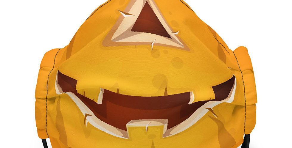 Silly Pumpkin Face Cover