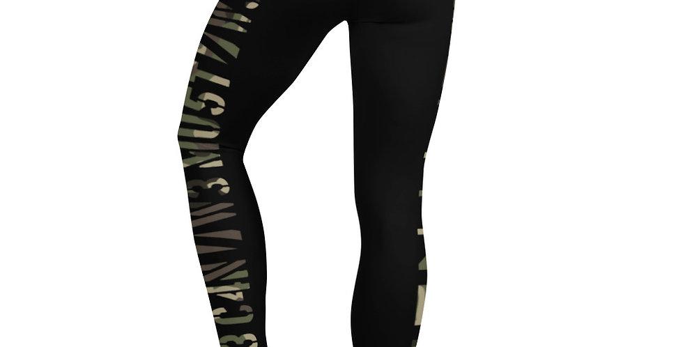 Prime Fitness - Camo Logo Leggings (Black)