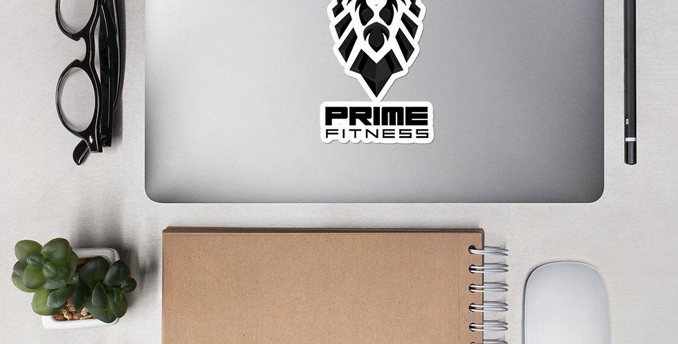 Prime Fitness - Black Logo Bubble-free sticker