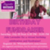Lavender Whitaker Bday Fundraiser 7.25.2