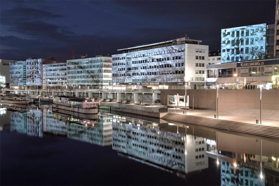 Berliner Promenade, Saarbrücken lightact von Martin Fell