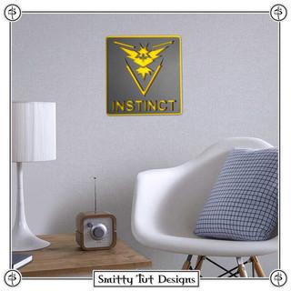 Pokémon Team Instinct Metal Wall Plaque!