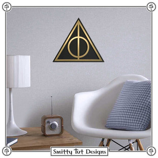 Harry Potter Deathly Hallows Metal Wall Plaque!