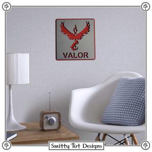 Pokémon Team Valor Metal Wall Plaque!