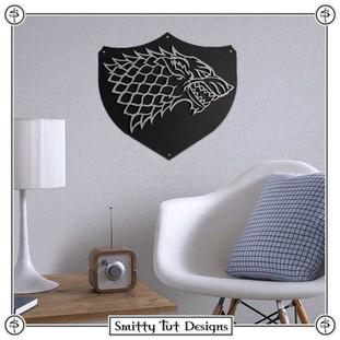Game of Thrones Stark Metal Wall Plaque!
