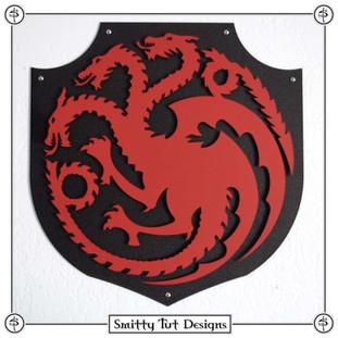 Game of Thrones Targaryen Metal Wall Plaque!