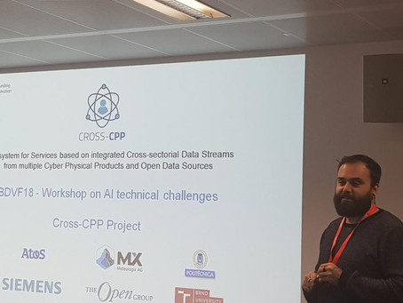 Cross-CPP has a sound presence in Data4AI Workshop in European Big Data Value Forum (EBDVF) 2018