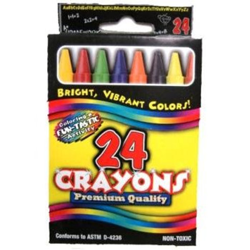 Crayons-@4 counted boxed assorted