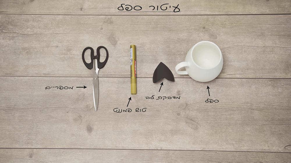 מה צריך כדי להכין ספל מעוטר