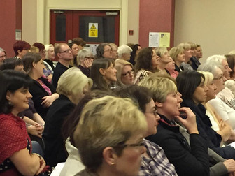 Attentive and engrossed audience