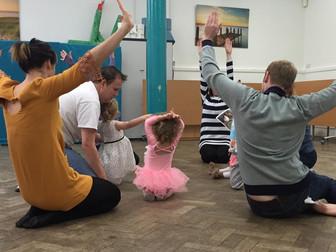 Children at a dance workshop
