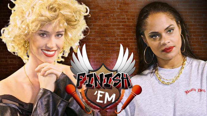 Sandy (Grease) vs Rihanna // FINISH 'EM! (ft. Denise Kroes & Denise Anna