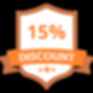15% Discount Orange