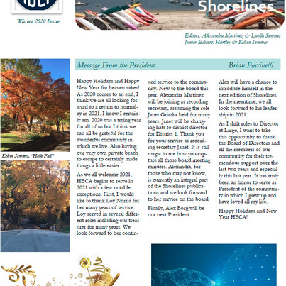 The Shorelines Winter 2020 Edition is Here!