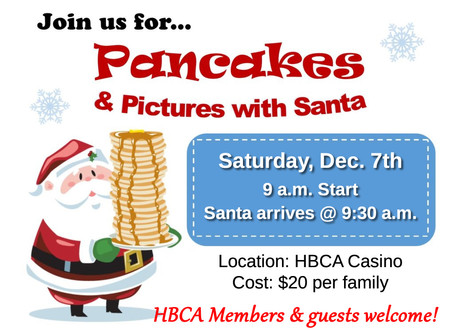 Pancakes With Santa (and face-painting too!) - Sat, Dec. 7th