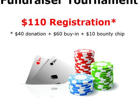 Poker Fundraiser Tournament - Saturday, Nov. 23rd