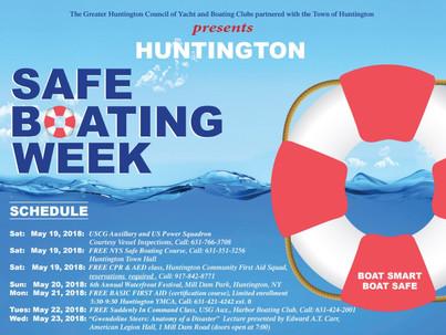 Huntington Safe Boating Week, May 15th - June 6th
