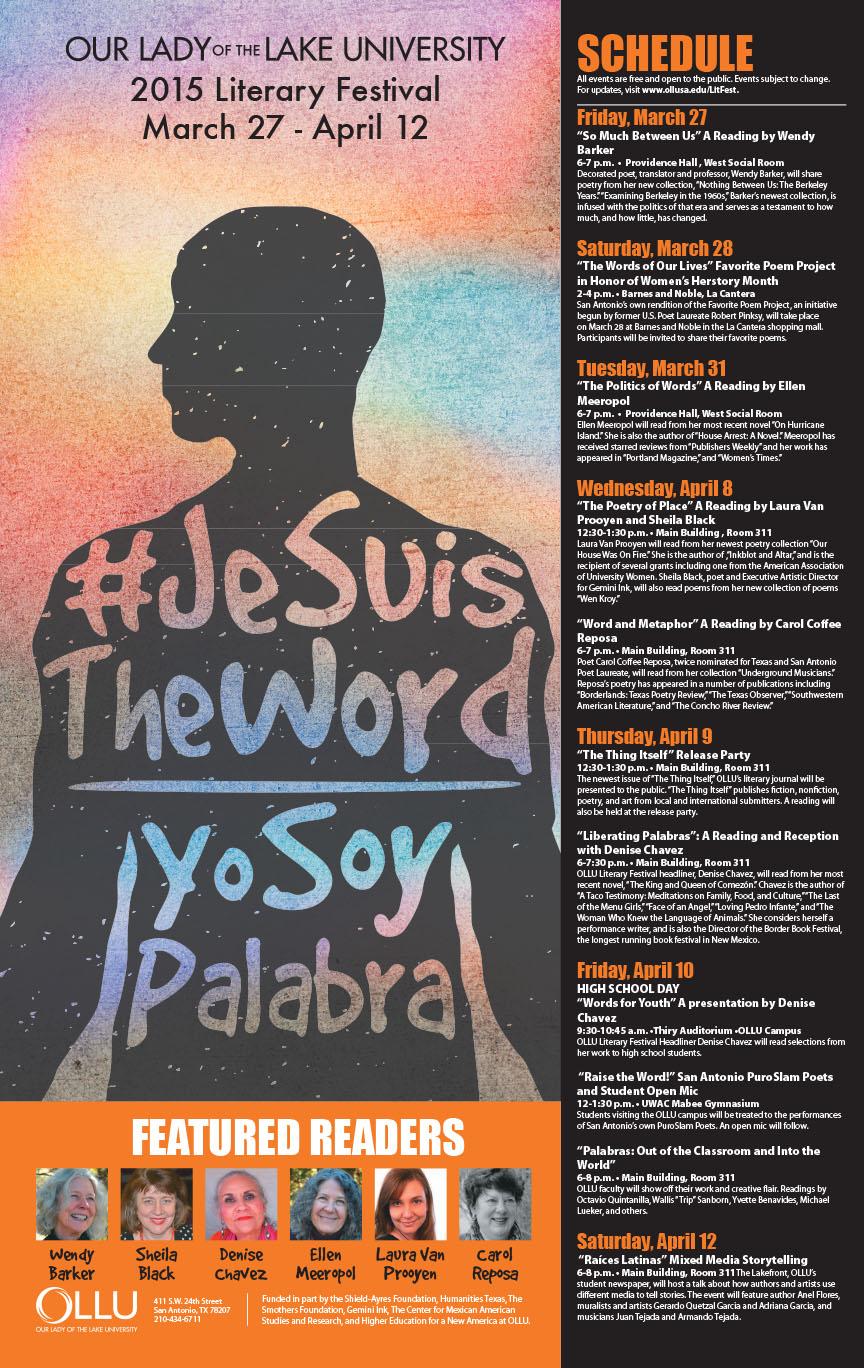 2015 OLLU Literary Festival Poster