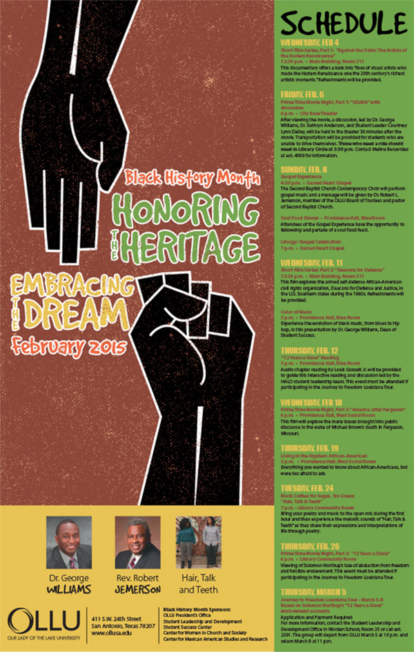 2015 OLLU Black History Month