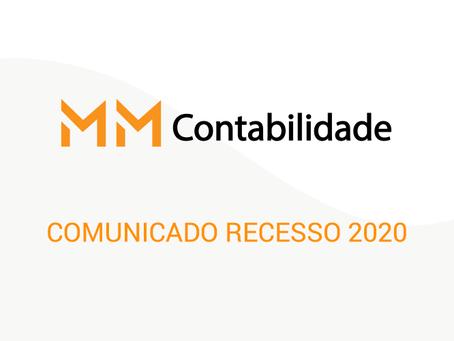Comunicado Recesso 2020