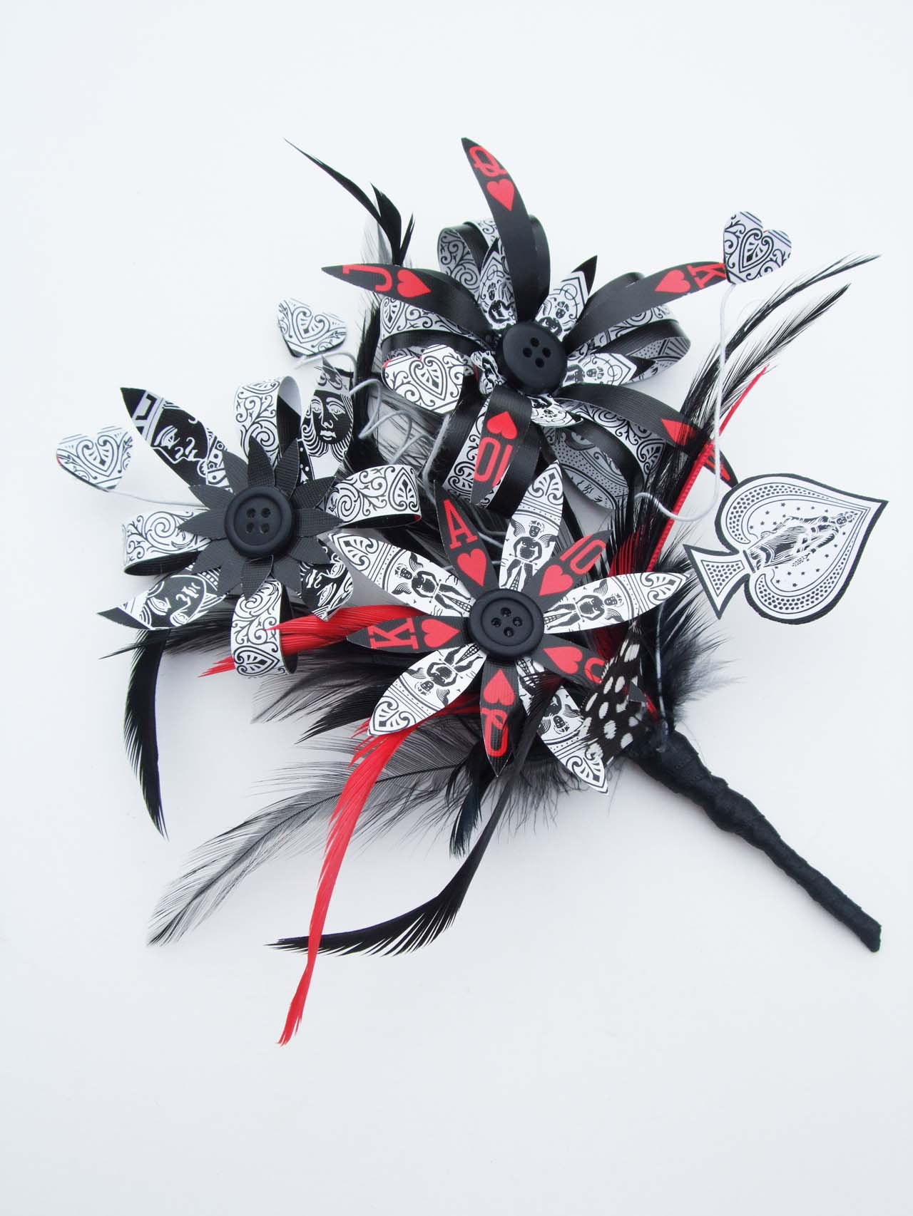 Queen of Hearts Buttonhole