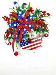 Patriotic Floral Grapevine Wreath