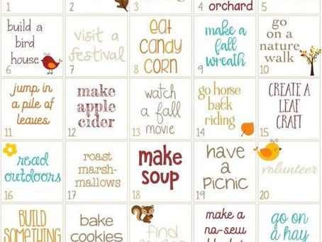 Fall Activity Calendar