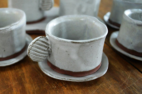 Minimalist Expresso Cup and Saucer