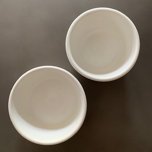 White Stacking Bowls Set (2 pieces)