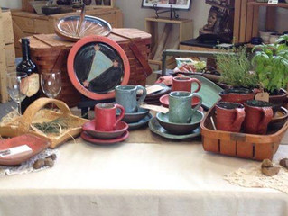 Summer Triangle Pottery Display for August!