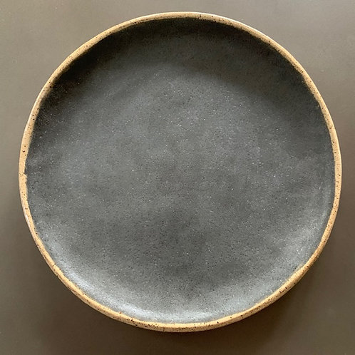 """The 9"""" Black Speck Plate Set of 4"""