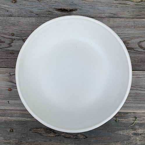 "Rustic White 10.5"" Coupe Plate/Bowl"