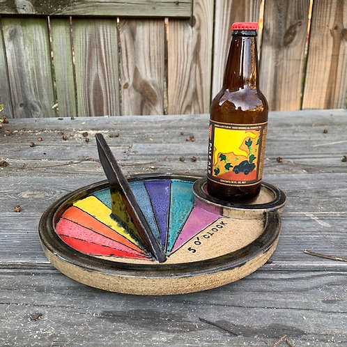 In-Stock 5 O'Clock Somewhere Multicolor Sundial©