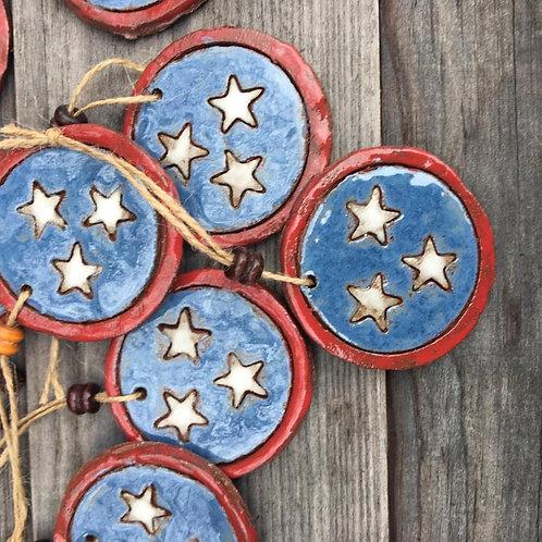 Tennessee Tri Star Ornament